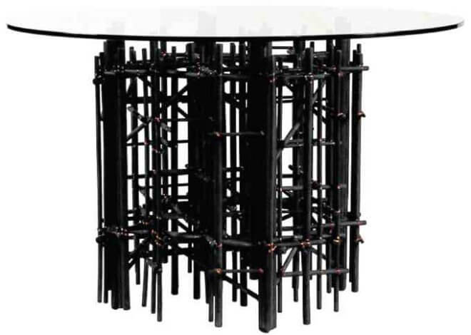 Maze Noir dining table by Debbie Palao