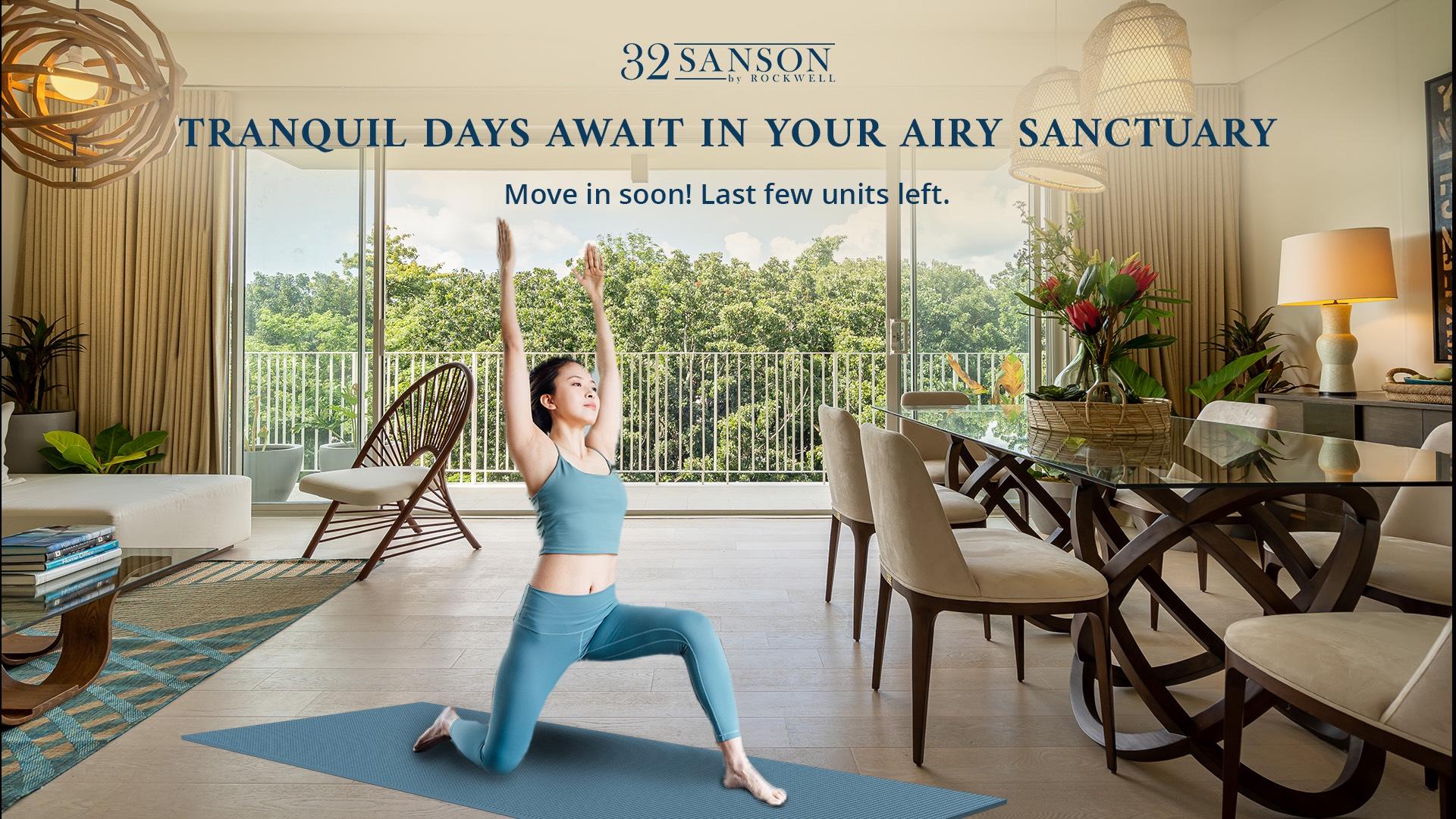 32 Sanson | balcony indoor yoga
