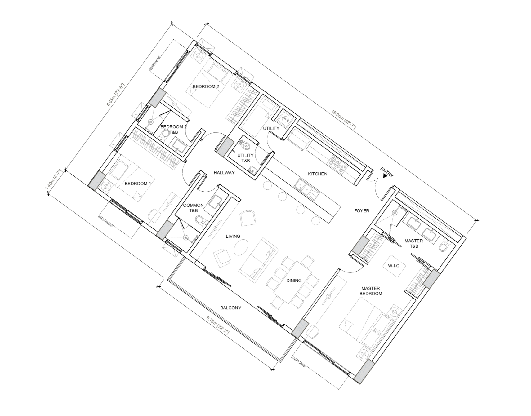 32 Sanson | 3br floor plan